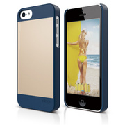 S5c Outfit Case for iPhone 5C - Jean Indigo / Gold