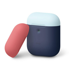 Airpods Silicone Case - Jean Indigo with Italian Rose/Pastel Blue top