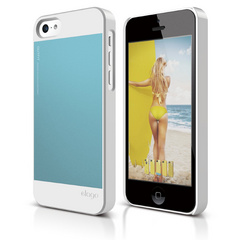 S5c Outfit Case for iPhone 5C - White / Cotton Candy Blue
