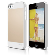 S5c Outfit Case for iPhone 5C - White / Gold