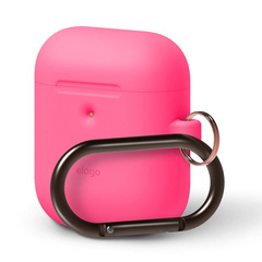 Airpods Silicone Hang Case - Neon Hot Pink