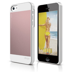 S5c Outfit Case for iPhone 5C - White / Lovely Pink
