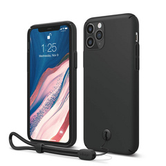 Slim Fit Strap Case for iPhone 11 PRO Max - Black