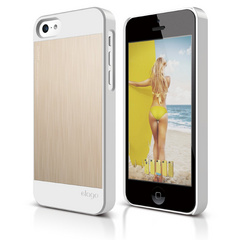S5c Outfit Matrix Case for iPhone 5C - White / Gold