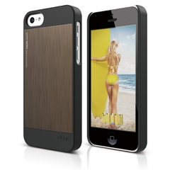 S5c Outfit Matrix Case for iPhone 5C - Black / Chocolate