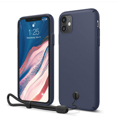 Slim Fit Strap Case for iPhone 11 - Jean Indigo