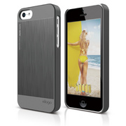 S5c Outfit Matrix Case for iPhone 5C - Dark Gray / Dark Gray