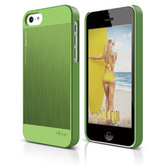 S5c Outfit Matrix Case for iPhone 5C - Green / Green