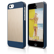 S5c Outfit Matrix Case for iPhone 5C - Jean Indigo / Gold
