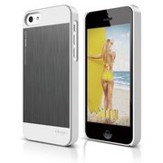 S5c Outfit Matrix Case for iPhone 5C - White / Dark Gray