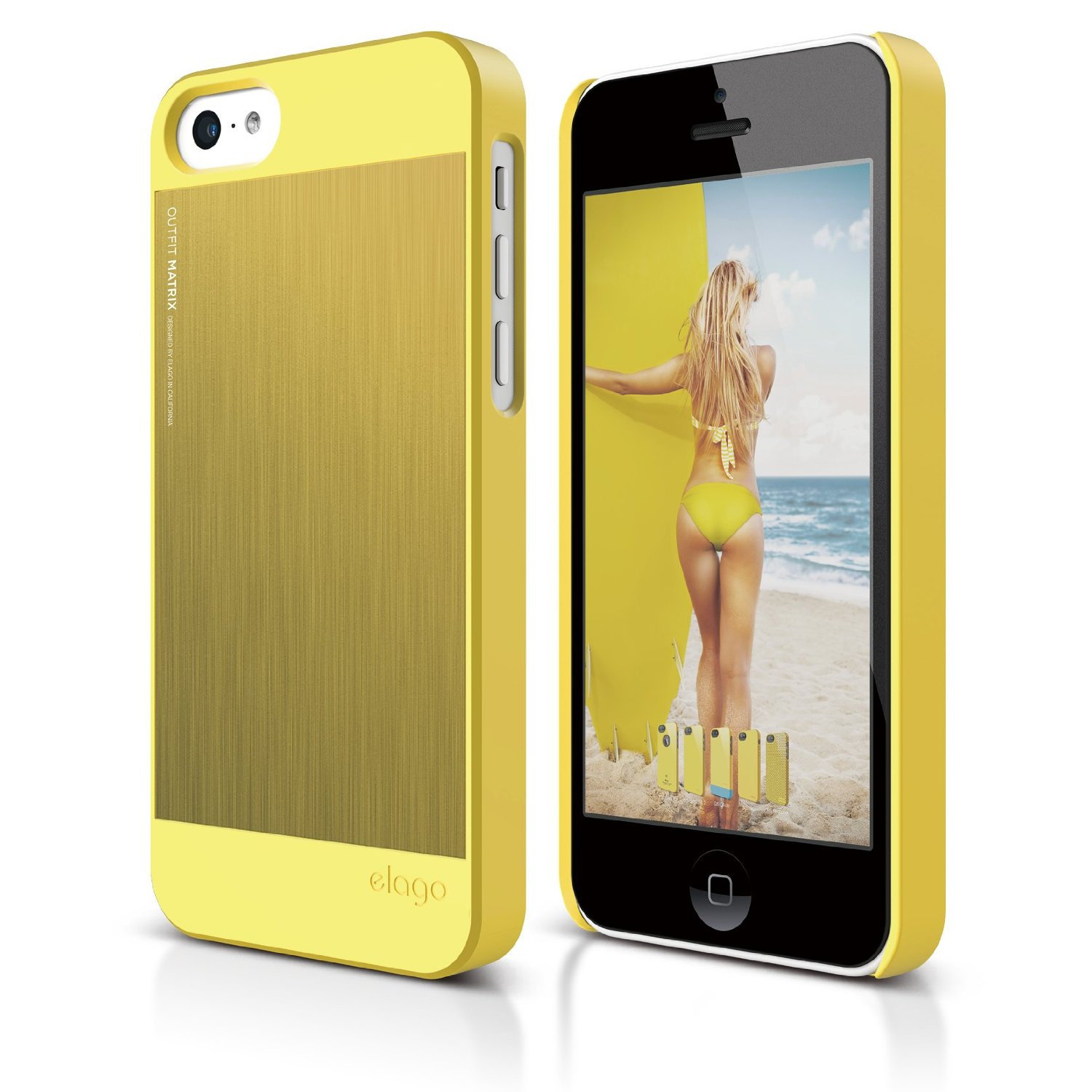 S5c Outfit Matrix Case for iPhone 5C - Yellow / Yellow ...