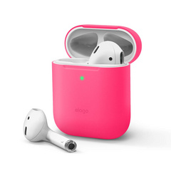 Airpods Skinny Silicone Case - Neon Hot Pink