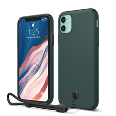Slim Fit Strap Case for iPhone 11 - Midnight Green