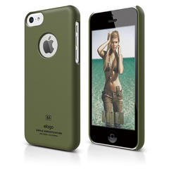 S5c Slim Fit Case for iPhone 5C - Soft Camo Green
