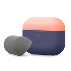 Airpods Pro Duo Silicone Case - Jean Indigo/Peach-Dark Gray