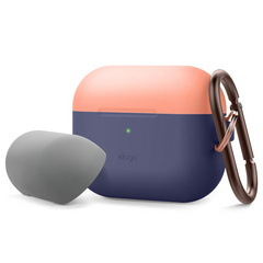 Airpods Pro Duo Hang Case - Jean Indigo/Peach-Gray
