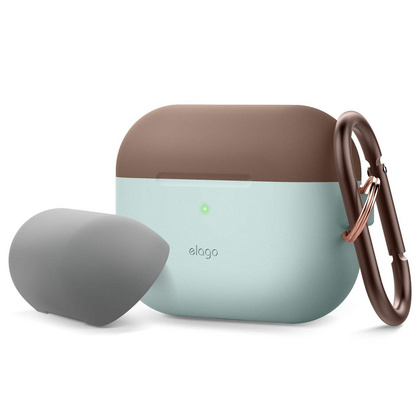 Airpods Pro Duo Hang Case - Mint/Dark Brown-Gray