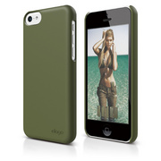 S5c Slim Fit 2 Case for iPhone 5C - Soft Camo Green