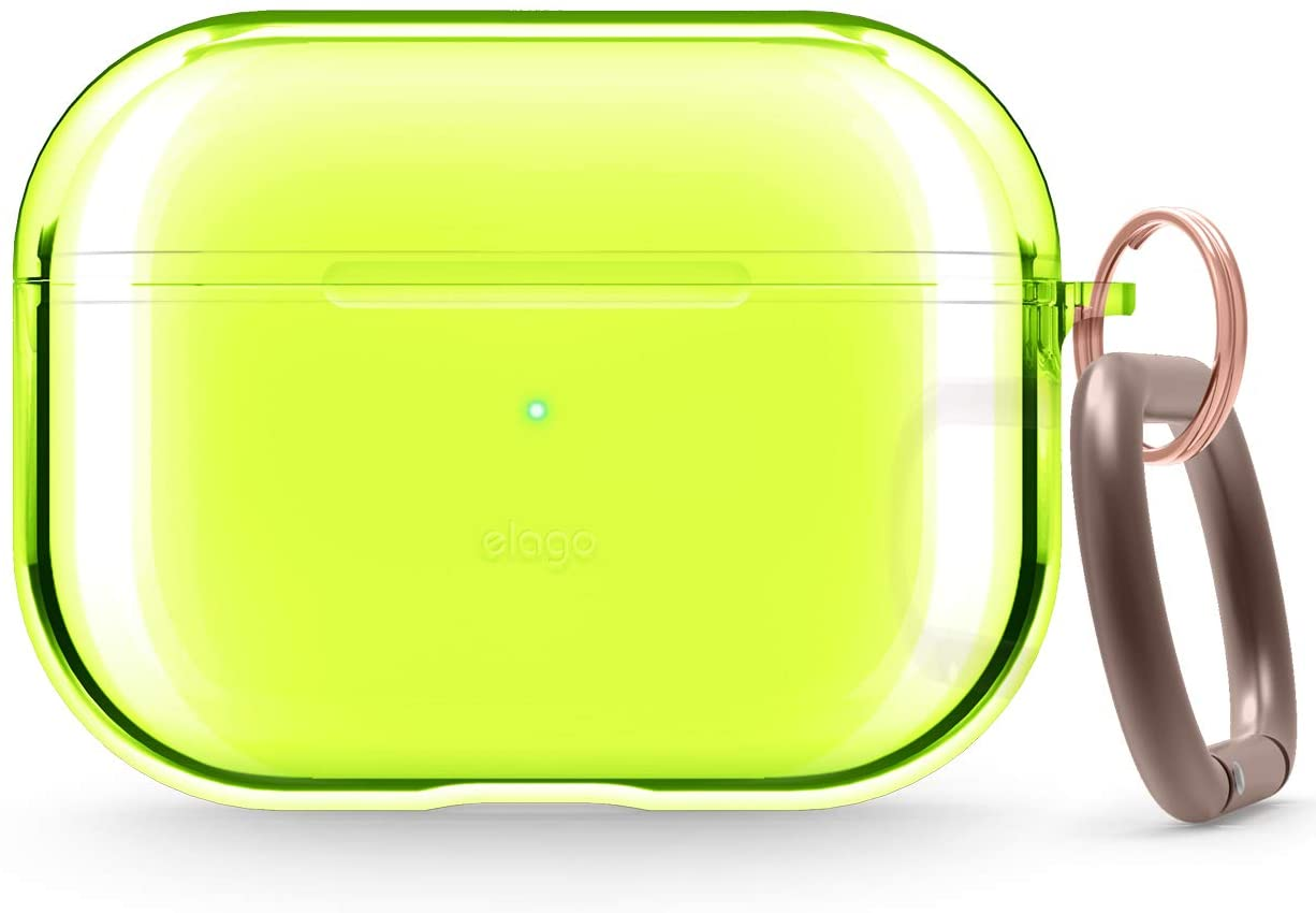 Airpods Pro Clear Tpu Case Neon Yellow Elago Slg Design