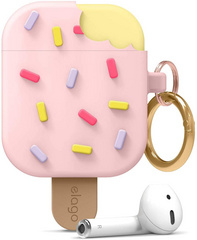 Airpods Icecream Design Case - Lovely Pink