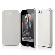 S5c Leather Case for iPhone 5C - White