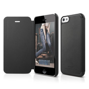 S5c Leather Case for iPhone 5C - Black