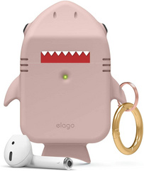Airpods Shark Design Case - Lovely Pink