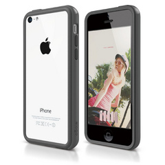 S5c Bumper Case for iPhone 5C - Dark Gray