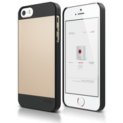 S5 Outfit Case for iPhone 5/5s/SE - Black / Champagne Gold