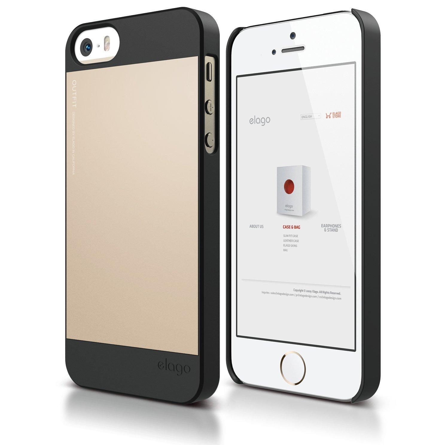 s5 outfit case for iphone 5 5s se black champagne gold. Black Bedroom Furniture Sets. Home Design Ideas