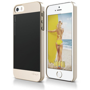 S5 Outfit Case for iPhone 5/5s/SE - Champagne Gold / Black