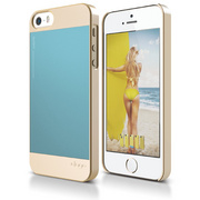 S5 Outfit Case for iPhone 5/5s/SE - Champagne Gold / Cotton Candy Blue
