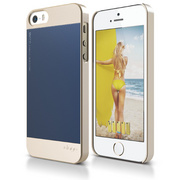 S5 Outfit Case for iPhone 5/5s/SE - Champagne Gold / Jean Indigo