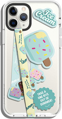 Smartphone Strap with stickers - Mint Icecream