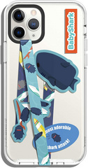 Smartphone Strap with stickers - Blue Shark