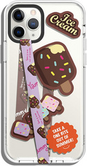 Smartphone Strap with stickers - Chocolate Icecream