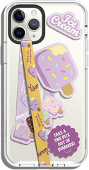 Smartphone Strap with stickers - Lavanda Icecream