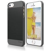 S5 Outfit Case for iPhone 5/5s/SE - Dark Gray / Black