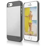S5 Outfit Case for iPhone 5/5s/SE - Dark Gray / Silver