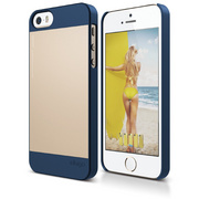 S5 Outfit Case for iPhone 5/5s/SE - Jean Indigo / Champagne Gold