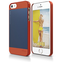 S5 Outfit Case for iPhone 5/5s/SE - Orange / Jean Indigo