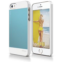 S5 Outfit Case for iPhone 5/5s/SE - White / Cotton Candy Blue