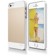 S5 Outfit Case for iPhone 5/5s/SE - White / Champagne Gold