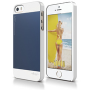 S5 Outfit Case for iPhone 5/5s/SE - White / Jean Indigo