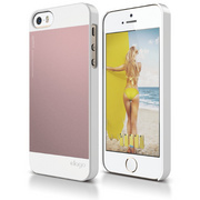 S5 Outfit Case for iPhone 5/5s/SE - White / Lovely Pink