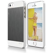 S5 Outfit Matrix Case for iPhone 5/5s/SE - White / Dark Gray