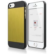 S5 Outfit Matrix Case for iPhone 5/5s/SE - Black / Yellow
