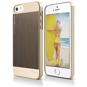 S5 Outfit Matrix Case for iPhone 5/5s/SE - Champagne Gold / Chocolate