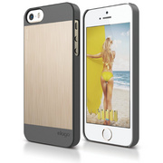 S5 Outfit Matrix Case for iPhone 5/5s/SE - Dark Gray / Champagne Gold