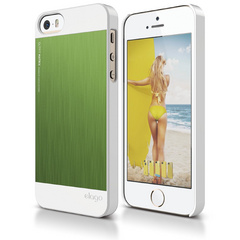 S5 Outfit Matrix Case for iPhone 5/5s/SE - White / Green